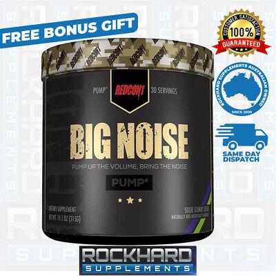 Redcon1 Big Noise Pump Pre Workout 30 Serves Total War Non Stimulant Pumps