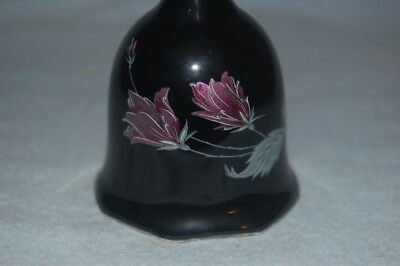Porcelain Black Bell with Flowers, Collectible