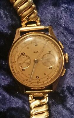 Vintage Olor Swiss Chronograph Manual Watch For Parts or Repair