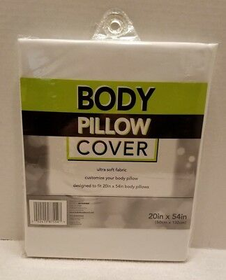 Bed Bath & Beyond Ultra Soft (20 in x 54 in) Body Pillow Cover, White