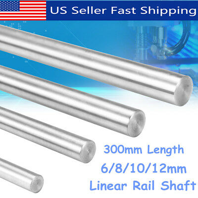 300mm 6/8/10/12mm CNC 3D Printer Axis Chromed Smooth Rod Steel Linear Rail Shaft