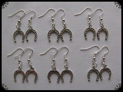 6 Pairs Of~ Melbourne Cup (Horseshoe) ~ Lucky Earrings (Plus Free Gift)