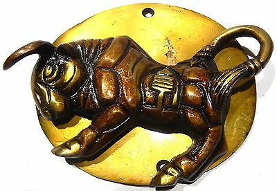 Bull Shape Vintage Antique Style Handcrafted Solid Brass Door Knocker Knob Pull