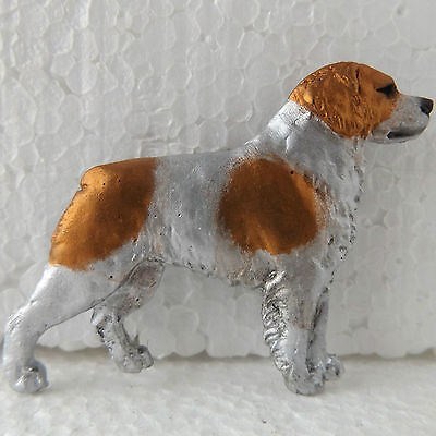 Brittany Spaniel No Tail Resin Brooch Dog Breed Jewellery Handpainted