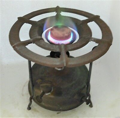 Unusual Wardus brand Swedish kerosene primus stove, original working condition.