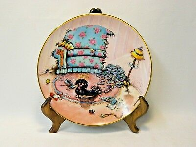 Danbury Mint Le Patterson Signed Dachshund Collector Plate #b1977 - Cat Did It!