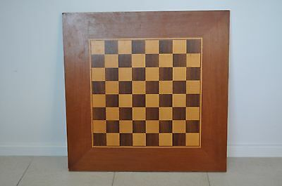vintage wooden chess wooden board art deco
