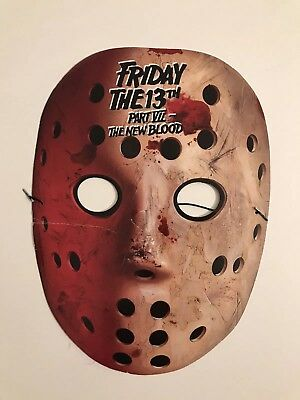 FRIDAY THE 13TH Part VII NEW BLOOD 1988 Promotional Cut-out Mask Unused Fair