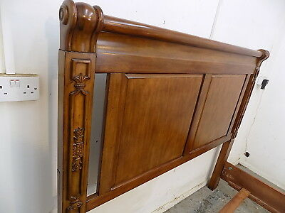king size bed,bed frame,5',bed,bedroom,king size,antique,reproduction,carved