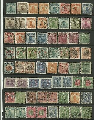 A Selection of Early good used Chinese Stamps on Hanger page.
