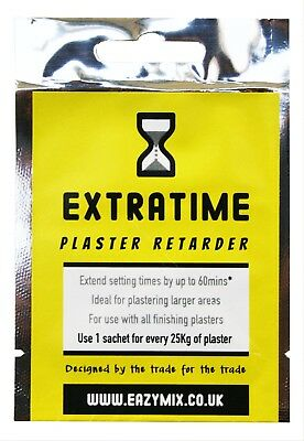 Eazymix Extratime Plaster Retarder Mix Sachet Slows Setting Times Of Plaster