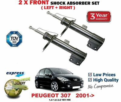 FOR PEUGEOT 207 1.4 HDi 1.6 16V 2006-/>on 2X FRONT LEFT RIGHT SHOCK ABSORBERS SET