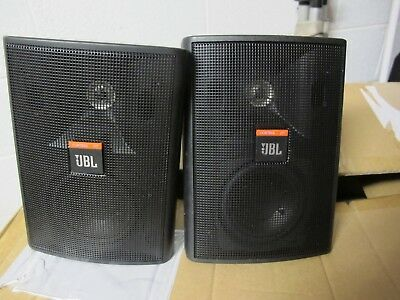 2x PROFESSIONAL JBL Control 23T BLACK Ceiling / Wall Indoor / Outdoor Speakers
