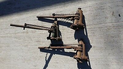A pair of vintage Speed Screw  floor Cramps Clamps and one extra TOTAL 3