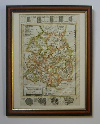 Shropshire: antique map by Herman Moll, 1724 or 1739