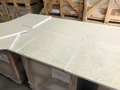 Bianco Perlino Honed Italian Limestone Marble Tiles, Floor/Wall Tile, 610x610mm
