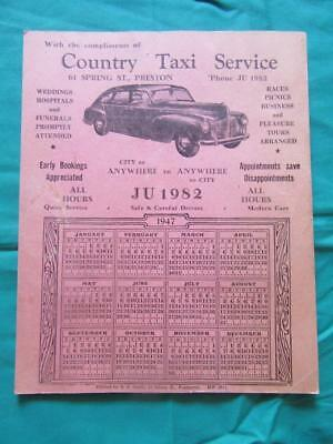 1947 Country Taxi Service 61 Spring Street Preston Weddings Hospitals & Funerals