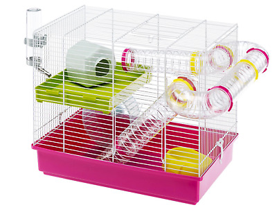 Heritage Hamster Cage Animal Play House Gerbil Mouse Cages with Exercise Tubes