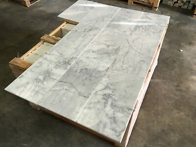 Statuario Marble Tiles, Polished Italian Marble Tile, Floor/ Wall, 228x457x10mm