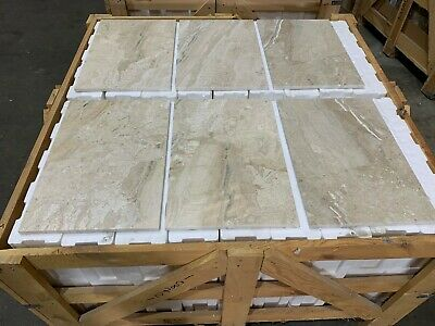 Travertine Tiles, White Chiaro Tumbled Travertine Tile, Floor/ Wall, 100x100mm