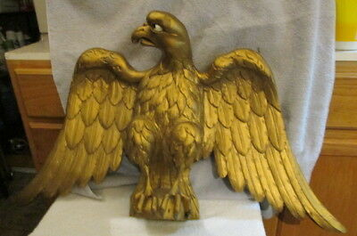 Very Old Antique New England Folk Art Hand Carved Wood American Eagle