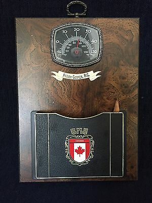 Prince George Canada Souvenir Wall Hanging Plaque Thermometer