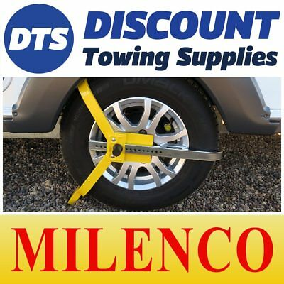 "Milenco Light Weight 13""-15"" Caravan Car Trailer Wheel Clamp Insurance Approved"