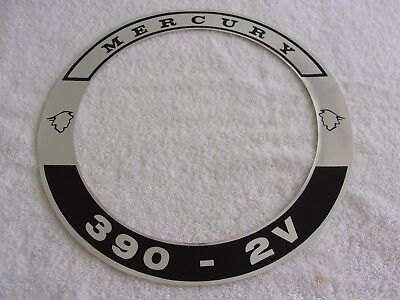 Ford Mercury 1968 390 2 V Air Cleaner Decal