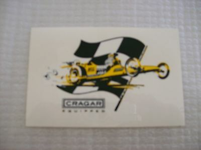 Collectible Nascar  Drag Racing Crager Equipped Racing Decal