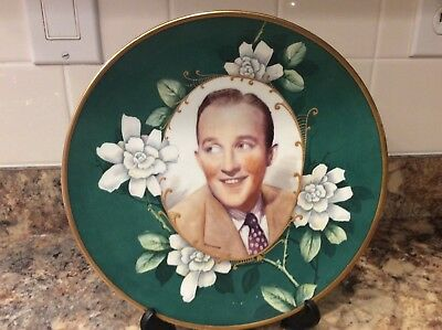 Antique 1940,s Buffalo China hand painted Super Rare Bing Crosby portrait plate