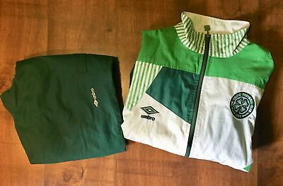 CELTIC UMBRO full suit jacket and trousers 1992-1993. RETRO VINTAGE RARE
