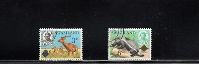 Swaziland 1975 Surcharges SG 230/1 Used