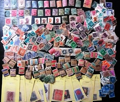 India stamp collection Hundreds Ghandi Victoria service Mint Used Hundreds