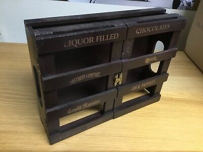 Jack Daniels / Southern Comfort  Very Special Wooden Crate Box - Opens / Doors
