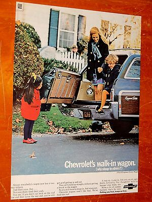Sharp 1969 Chevy Kingswood Estate Wagon With Kids Ad - Vintage Chevrolet Classic