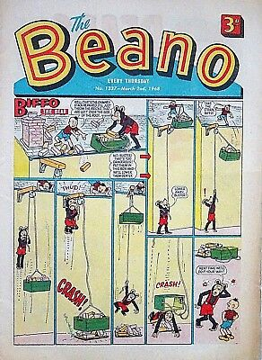 BEANO - 2nd MARCH 1968 (29 Feb - 6 March) RARE 50th BIRTHDAY GIFT !! VG+..beezer