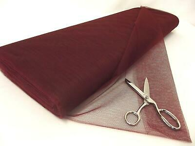 Dress Net 100% Polyester Tulle Fabric Material - BURGUNDY