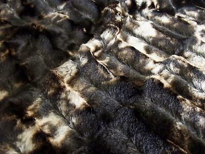 Super Luxury Faux Fur Fabric Material - MICRO BROWN MIX