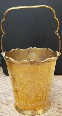 small etched brass bucket