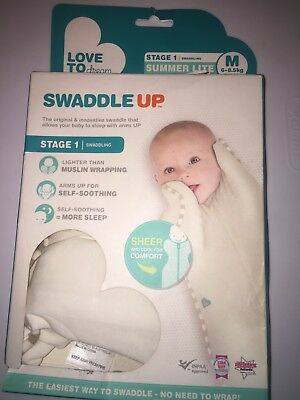 Love to Dream Swaddle Up, Summer Lite in Cream, Stage 1 Medium, 13 - 18.5 pounds