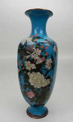 Gorgeous Antique 19th Ct. Meji Period Japanese cloisonne vase 24.25 inches