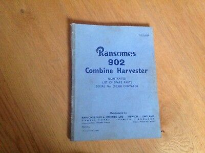 ransomes 902 combine harvester manual List Spare Parts