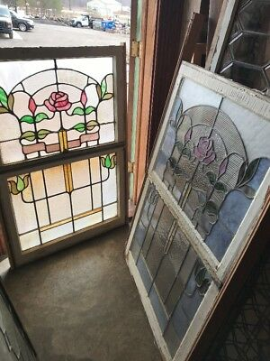 SG 1941 two available price each double hung stained window 31.25 x 48