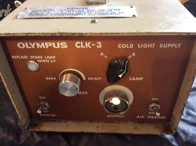 Olympus CLK-3 Halogen Light Source Endoscopy Air Supply Tested working