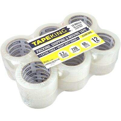 Super Thick Clear Packing Tape Heavy Duty Superior Quality Safe 12 Refill Rolls