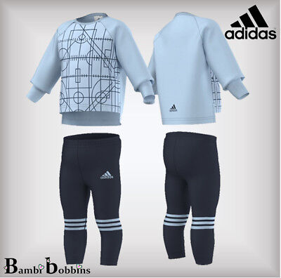 Adidas Performance Tracksuit Leggings Set Outfit Baby Girls Age 6-9-12 Months