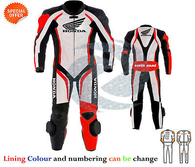 motorbike leather suit one piece colour and logos can be change any size colour