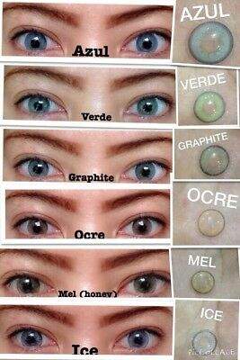 BATIS SPARTAX * 7 COLOR CONTACT LENSES * 1 YEAR (daily use) * 0.00 TO -5.00 *