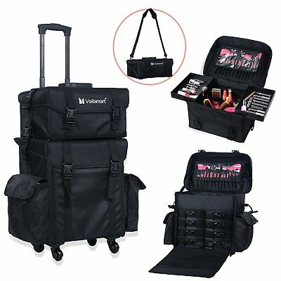 Makeup Cosmetic Artist Trolley Carry Case Organizer Beauty Travel Bag