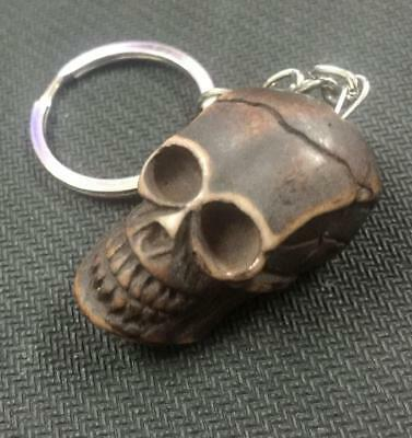 cool punk  brown skull head design key-chains ma3